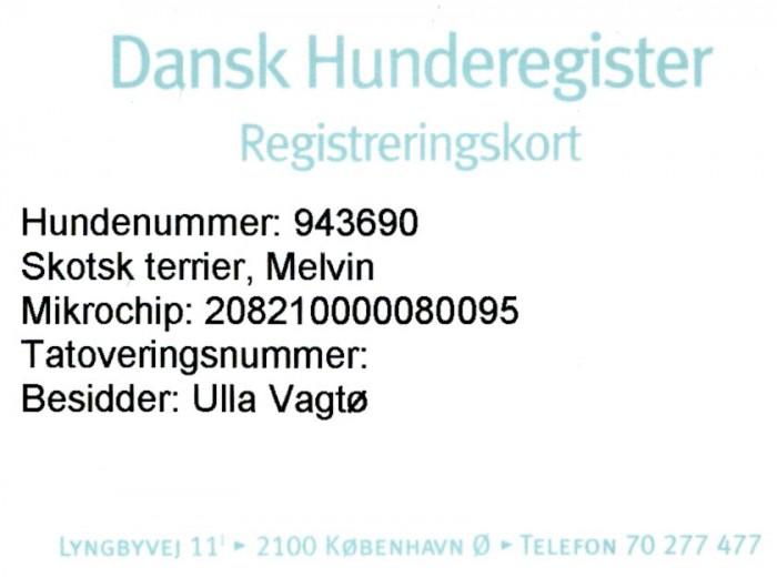 registreringskort